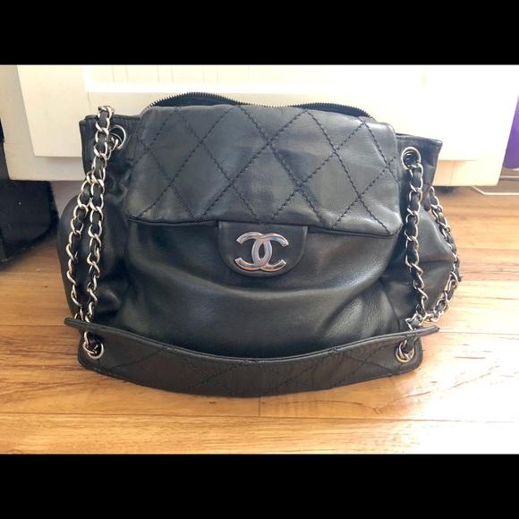 CHANEL Bags   Accordion Black Bag   Poshmark d2477a2bcc